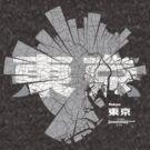 東京 Tokyo Map von UrbanizedShirts