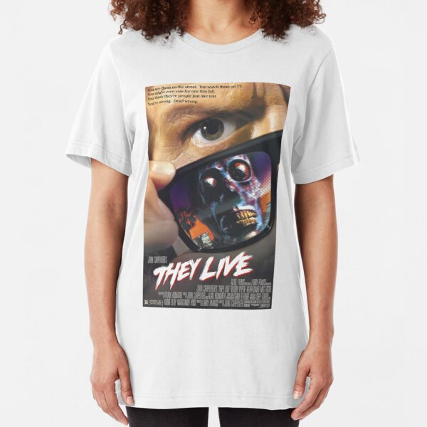 They Live! Slim Fit T-Shirt