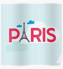 Paris Travel Card Poster