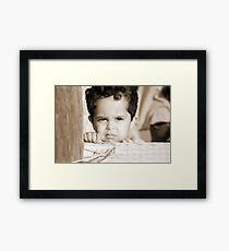 In his little world... Framed Print