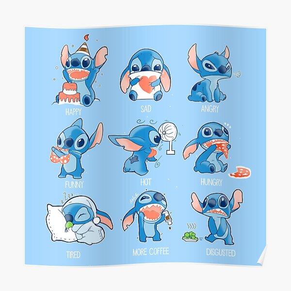 Stitch emoticon!  Poster