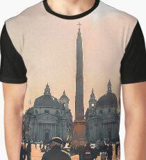 Rome, Sunny Day in Piazza del Popolo Graphic T-Shirt