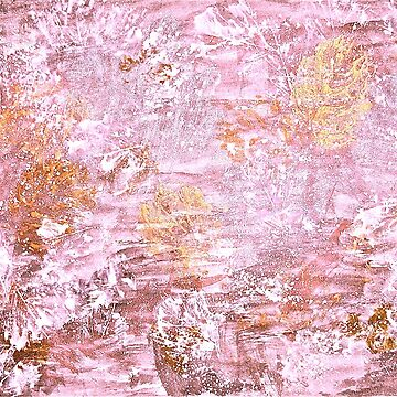 Autumn Abstract Golden Pink by GittaG74