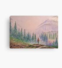 Among the misty mountains Canvas Print