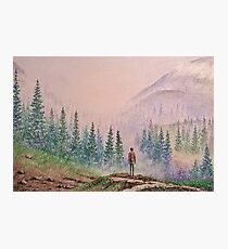 Among the misty mountains Photographic Print
