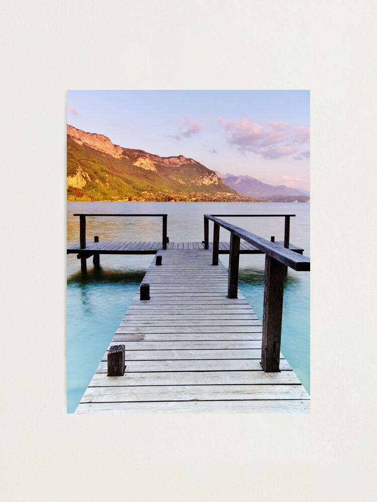 Alternate view of End of afternoon on Annecy lake Photographic Print