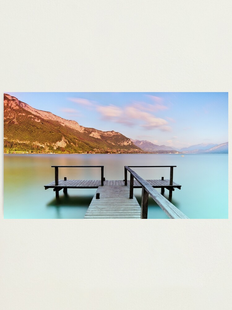 Alternate view of Dusk colors on Annecy lake Photographic Print