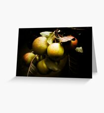 Apples in the garden Greeting Card