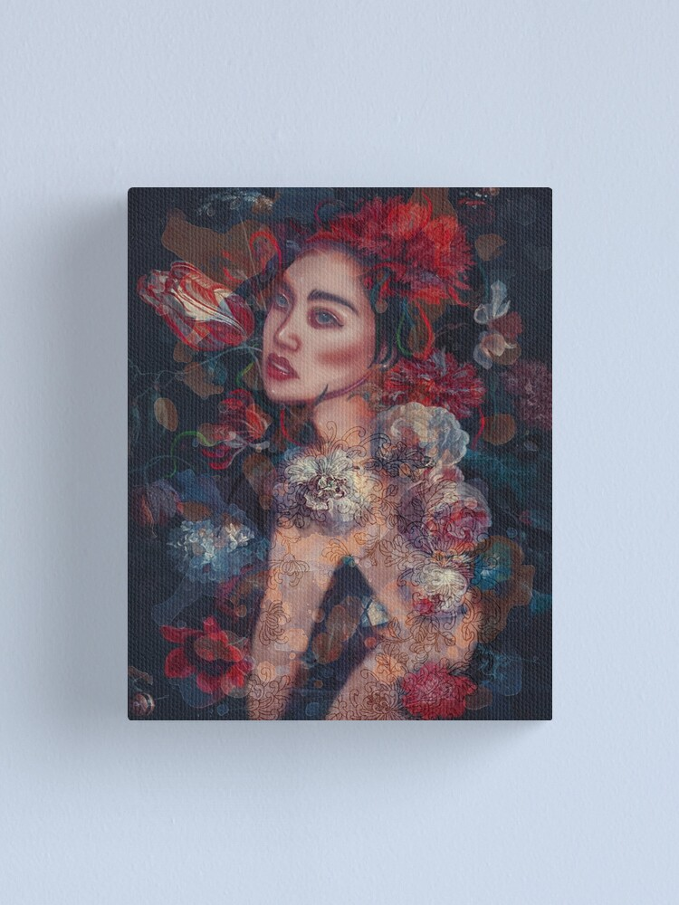 Alternate view of Beauty in the flowers Canvas Print