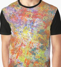 Colorful Rainbow Abstract Splatter Painting Graphic T-Shirt