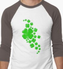 Wishing good Luck cute cloverleaves  Men's Baseball ¾ T-Shirt