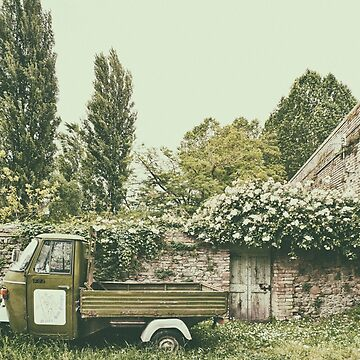 Piaggio Ape in Italian village by FlatLandPrints