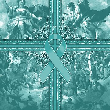 Teal Awareness Ribbon Graphic Spread by adamcampen