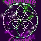 Meditate Create Seed of Life Emblem by Hyrnrg
