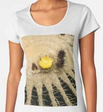 Fascinating Cactus Bloom - Soft and Fragile Among the Thorns Women's Premium T-Shirt