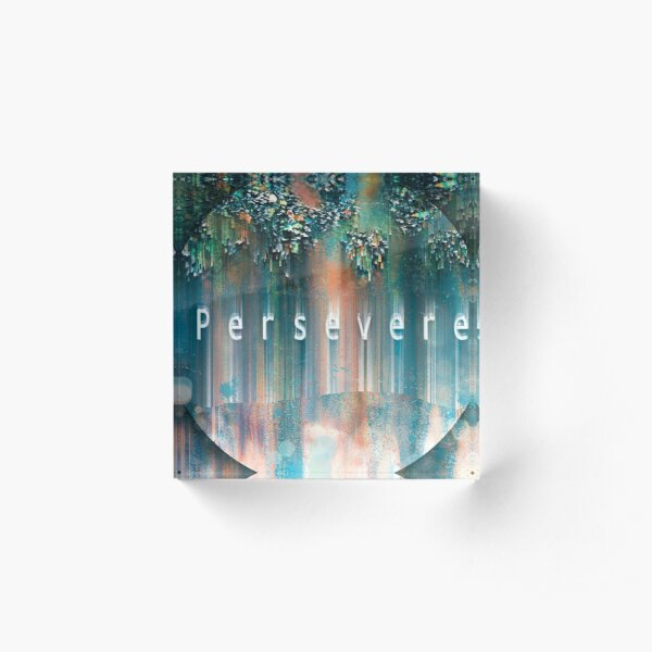 Persevere digital art print Acrylic Block