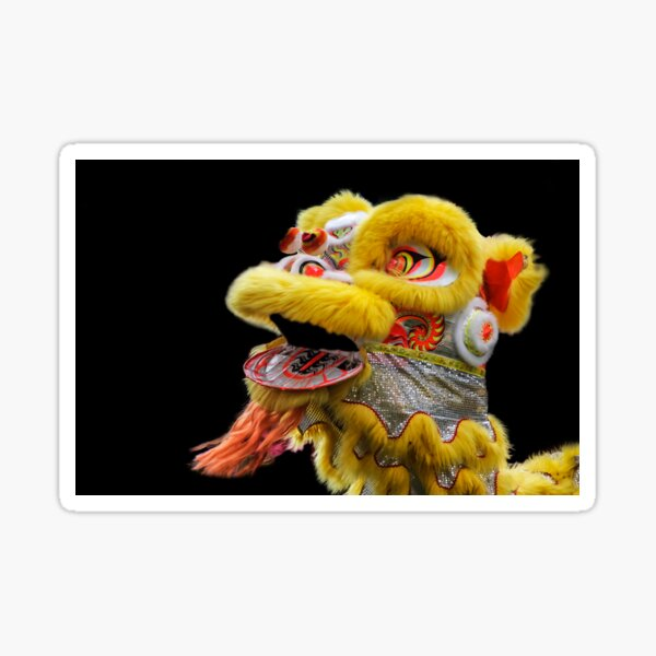 Chinese Lion Dancing Sticker