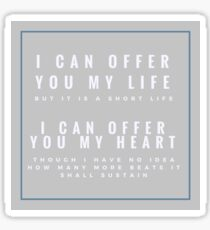 Jem Carstairs Quote Sticker