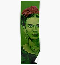 Frida Kahlo - red bow Poster
