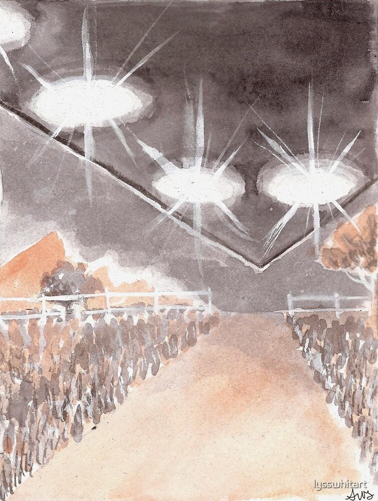 Rural UFO Visit by lysswhitart
