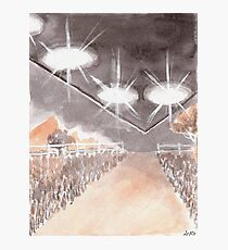 Rural UFO Visit Photographic Print