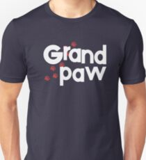 Grandpaw - Grand Paw - Granddog Lover Shirt - Gift for Dog Sitters, Pet Sitters and Grandparents Slim Fit T-Shirt