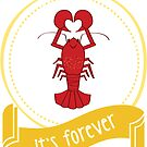 Forever Lobster Sticker by LindaTieuArt