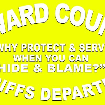 WHY PROTECT & SERVE WHEN YOU CAN HIDE AND BLAME? by LisaRent