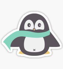 Winter Scarf Penguin Sticker Sticker