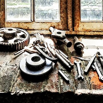 Gears and Wrenches in Machine Shop by SudaP0408