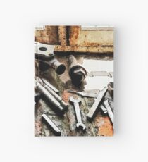 Gears and Wrenches in Machine Shop Hardcover Journal