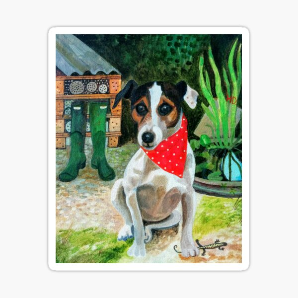 Rocky the Rescue Terrier Sticker