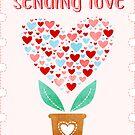 Sending Love Sticker by LindaTieuArt