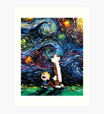 Calvin and Hobbes Inspired Art Print