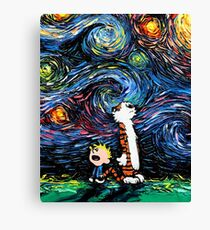 Calvin and Hobbes Inspired Canvas Print