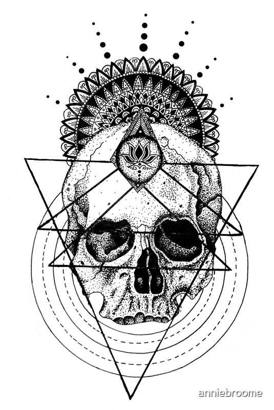 «cráneo mandala» de anniebroome  redbubble