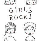 Girls Rock! Sticker by LindaTieuArt
