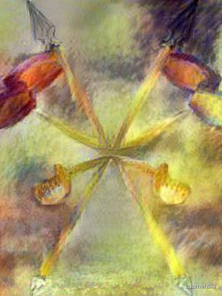 Watercolor paint, Swords, banners, flags, crosshairs, emblem, emblem, symbol, symbolism by znamenski