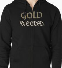 Gold Blooded Zipped Hoodie