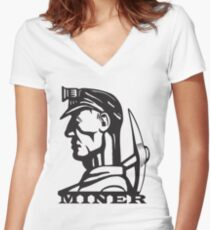 Coal Miner   Fitted V-Neck T-Shirt