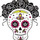 Sugar Skull Sticker by LindaTieuArt