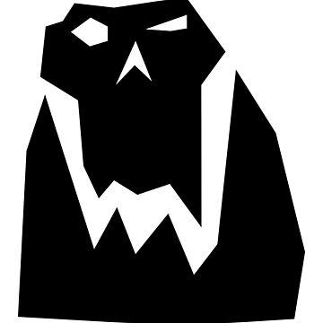 Orc head (Black) by Khyrgrim