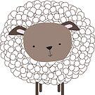 Cute Sheep Sticker by LindaTieuArt