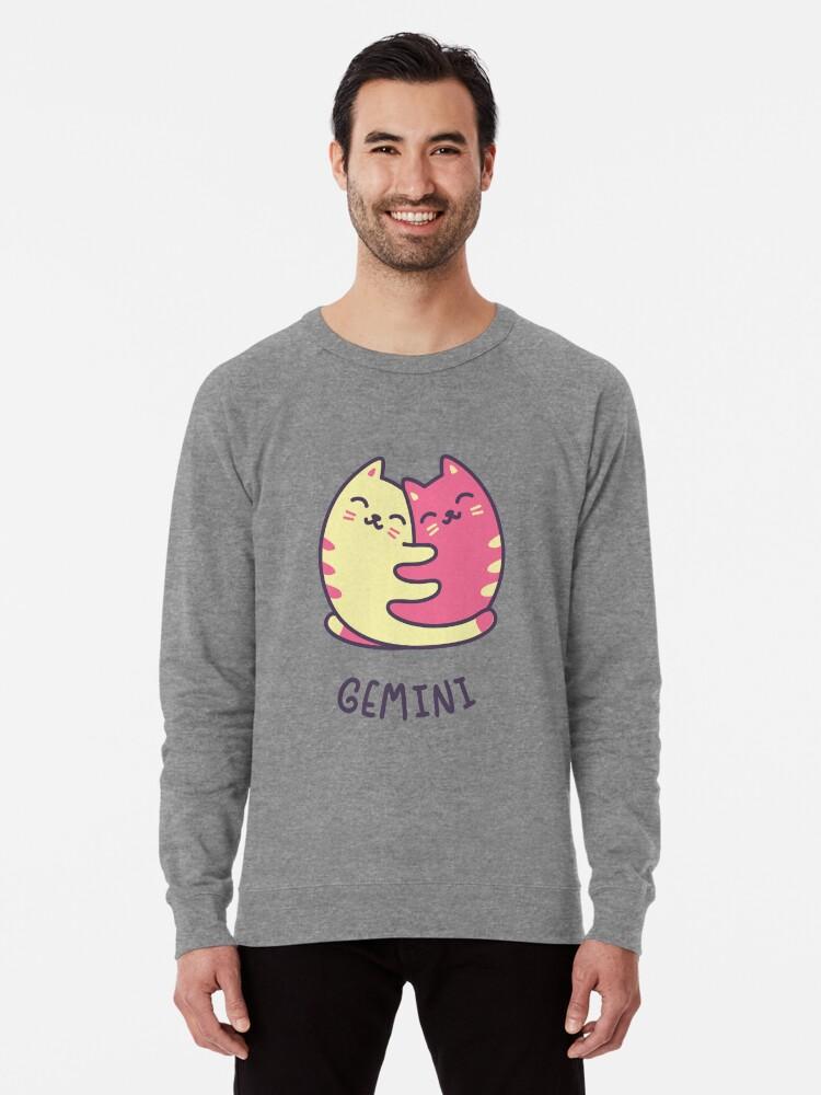 e2e4e80bba Funny Gemini Cat Horoscope Tshirt - Astrology and Zodiac Gift Ideas! Lightweight  Sweatshirt