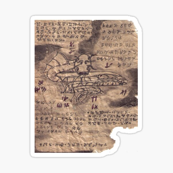 Book of Nightmares Sky Serpent Sticker