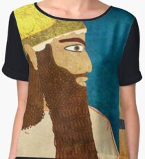 Purim, Haman Jewish, Esther, King Ahasuerus Chiffon Top