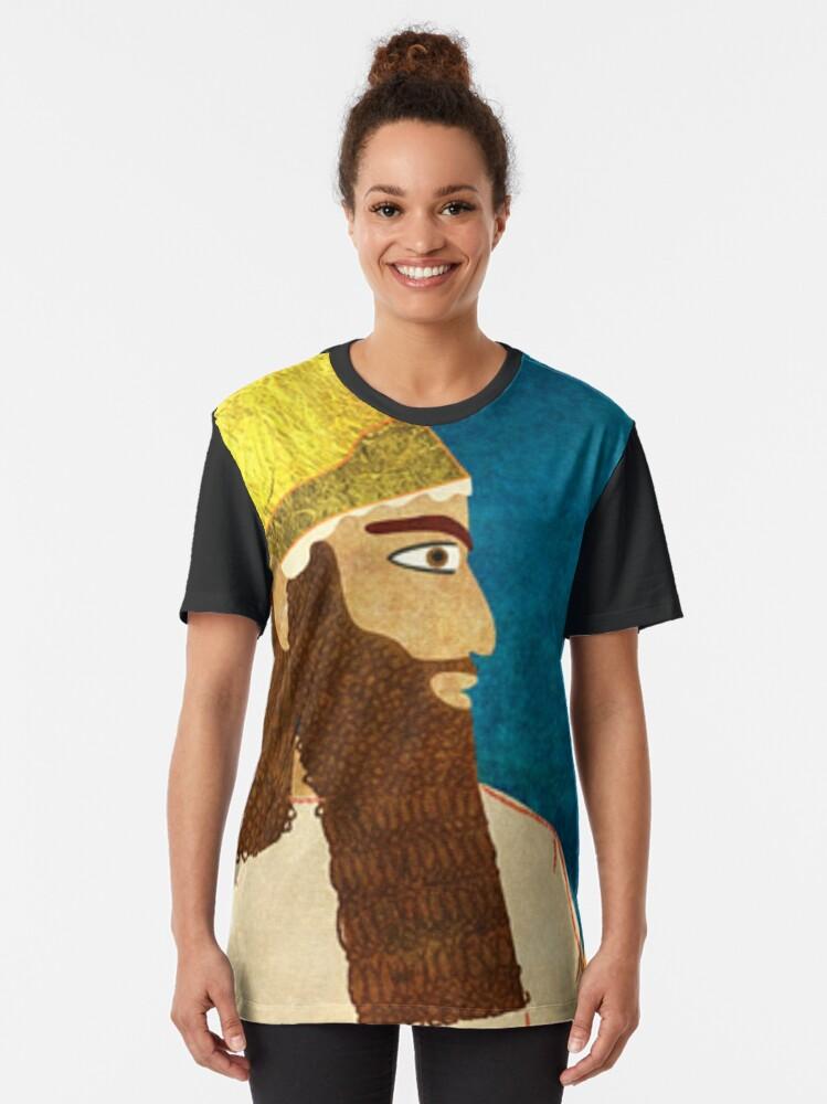 Alternate view of Purim, Haman Jewish, Esther, King Ahasuerus Graphic T-Shirt