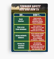Tornado Safety  Canvas Print