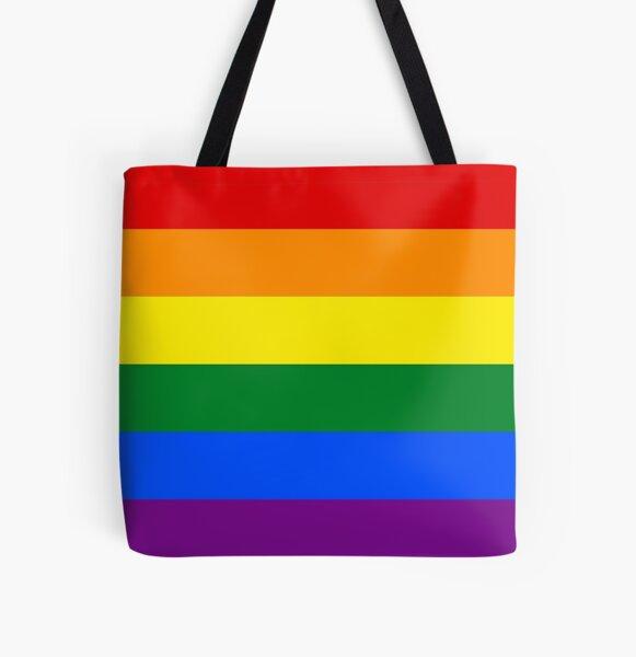 Drapeau Rainbow Flag LGBT Tote bag doublé