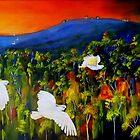 """Flight West""  Acrylic painting on canvas by sandysartstudio"
